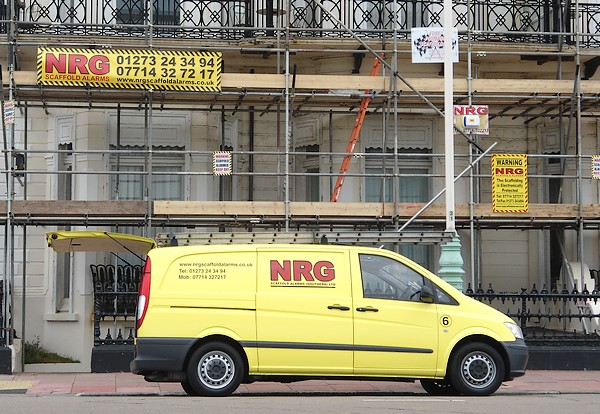 scaffold alarms brighton hove worthing eastbourne sussex